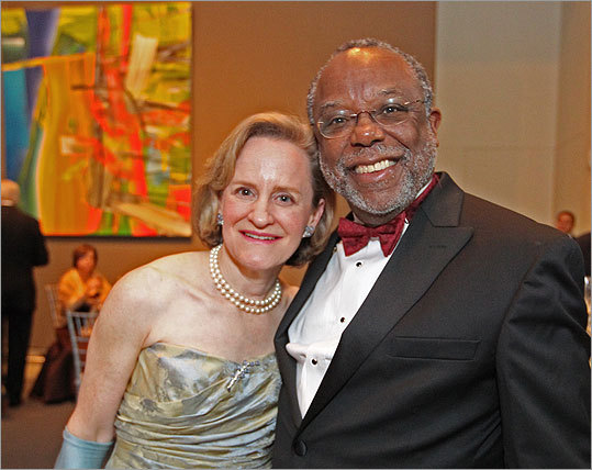 Davis and Theodore Landsmark, president of Boston Architectural College and an MFA trustee, at the gala opening.