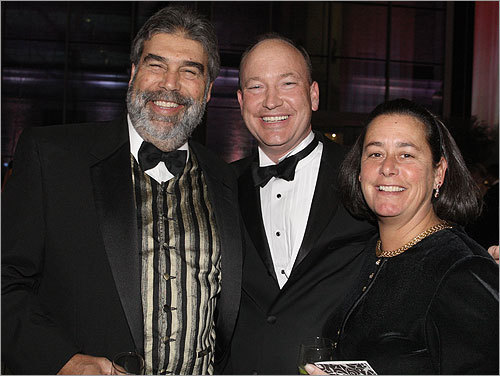 From left: Josiah Spaulding of Boston, President and CEO of WGBH Boston Jon Abbott, and Joyce Spaulding.