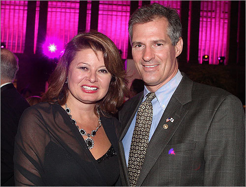 Senator Scott Brown and his wife, Gail Huff.
