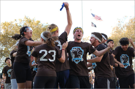 Tufts celebrates its victory.