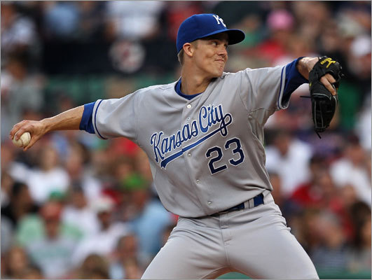 Zack Greinke, RHP, Royals He has already sparked interest from the Red Sox, Brewers, and Rangers, to name a few. The Royals, who just dealt David DeJesus to the A's, would need two top prospects in return — to start with.