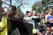 Local scenes from the Boston Marathon