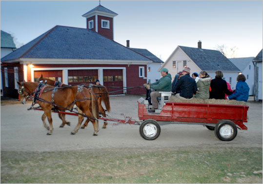 Christmas at Canterbury , Dec. 4 and 11, 3-8 p.m., Canterbury, 603-783-9511, www.shakers.org . Luminarias, sleigh and wagon rides, magic and puppet shows, music, gingerbread houses, and crafts on the grounds of Canterbury Shaker Village. Adults $17, children ages 6-17 $8, under 5 free.