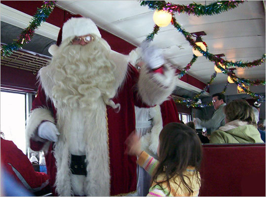 Santa Trains on the Hobo Railroad , Dec. 4-5, 11-12, and 18-19, Lincoln, 603-745-2135, www.santatrains.com . Santa and his elves offer gifts and refreshments to all on board. $15-$18 per person, children under 2 free.