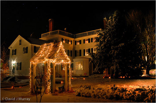 Strawbery Banke Candlelight Stroll , Dec. 4-5, 11-12, and 18-19, Portsmouth, 603-433-1107, www.strawberybanke.org/calendar/candlelight-stroll.html . The narrow lanes of Strawbery Banke Museum are aglow with luminarias, the historic homes are decorated, and scents and sounds of the season fill the air. Adults $20, ages 5-17 $10, families (2 adults, all children 17 and under) $50.