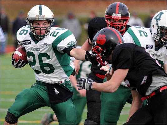 Abington's John Lane carried for a first down in the first half.