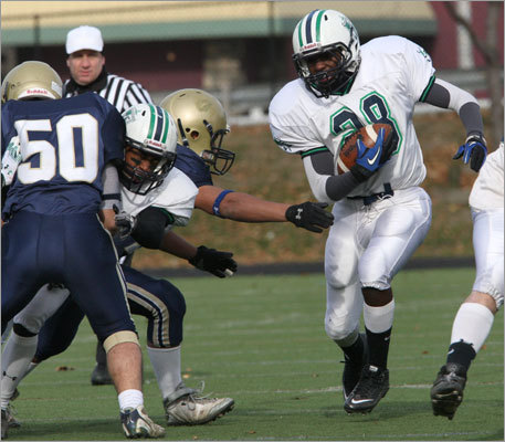 Lowell Catholic's Bryan Waruhui (28).