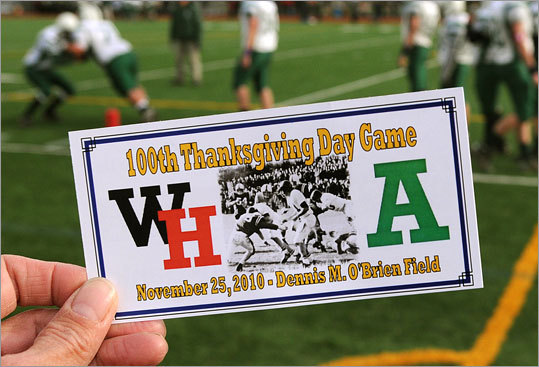 A ticket to the Whitman-Hanson vs. Abington game was a ticket to watch history made as the schools played for the 100th time.