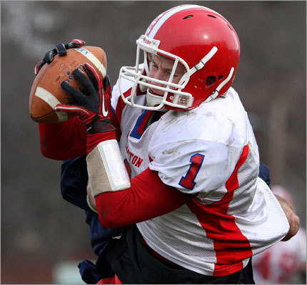 Burlington's Greg Sheridan made an interception in the fourth quarter.
