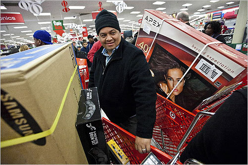 Jose Guzman, in town visiting family from Maryland, was at Target in Dorchester.
