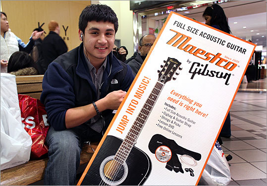 Yorman Santos from Chelsea got this acoustic guitar at Best Buy on sale for $80. The guitar regularly sells for