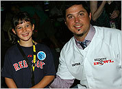 Sox pitcher Josh Beckett at the Beckett Bowl for Children's Hospital Boston