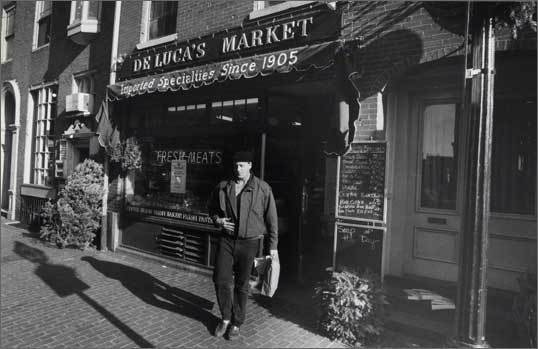 DeLuca's Market has been run by the same family for three generations for more than a century. An image from December 16, 1985.