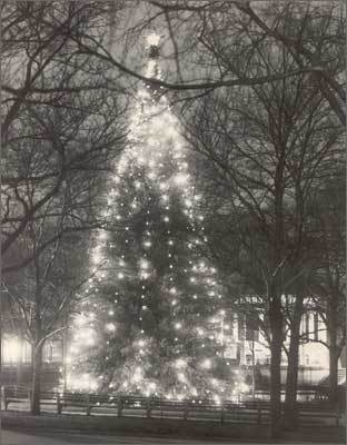 1936 The Common Christmas tree on Dec. 26, 1936.