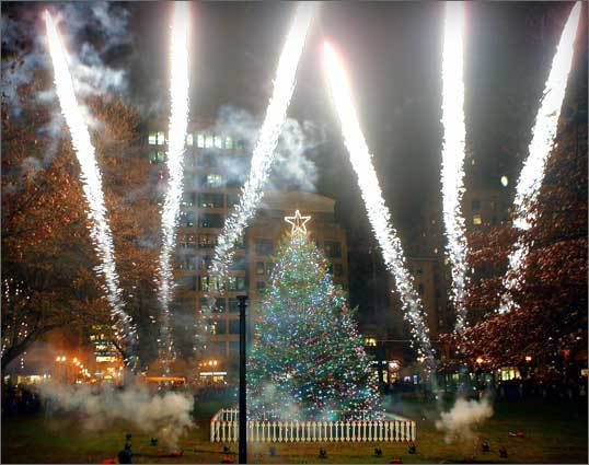 2008 Fireworks during the 2008 tree lighting.