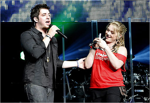9. American Idol At No. 7 last year, the show moved down the ranks of this list this year. In this photo, 2010 American Idol winner Lee Dewyze and runner-up Crystal Bowersox.