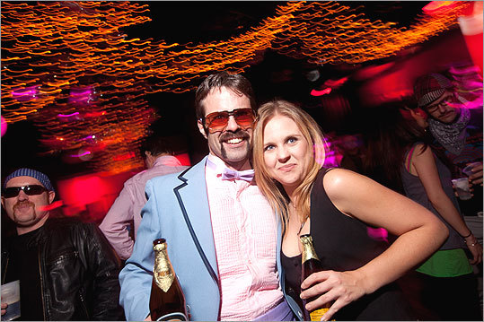 Mike Lemieux, in character as Tony Clifton (an Andy Kaufman alter-ego), and Oriana Camish made an appearance. - Meet some Movember participants - Share your mustache photo