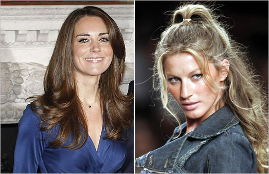 Prince William's fiancee Kate Middleton and supermodel Gisele Bundchen are both on the Dukan's diet.