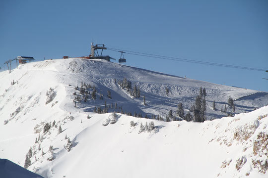 Ski trips are not easy, but flying direct from Boston to Salt Lake City is pretty slick. The morning flight has you on the slopes by noon since the ski areas of Big and Little Cottonwood Canyons are just 30 miles from the airport. You can ride the legendary Snowbird tram and ski from 11,000-ft. Hidden Peak on Chip's Run - 2 1/2 miles of soft,silky groomed snow, or drop right over the cornice to The Cirque for a nonstop 3,240 ft. vertical adventure. Over Thanksgiving week we found most of the Bird's 2,500-high alpine acreage already open (and awesome).