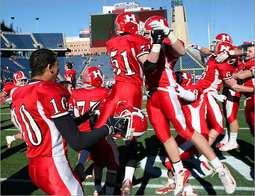 Holliston finished the season with a 12-1 record. It handed Cardinal Spellman, also 12-1, its first loss of the season.