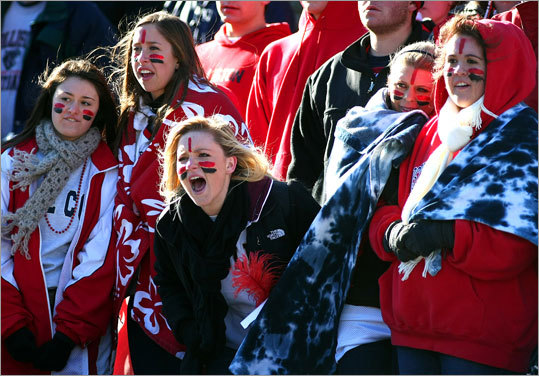 Holliston fans screamed encouragement to their team.