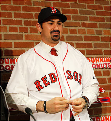 After trying on his new Red Sox jersey, Gonzalez told the assembled media that Boston has long been his favorite American League team, then said something else that should endear him even more to Sox fans. 'I'm very excited to be here in Boston and ready to beat the Yankees,' he said.