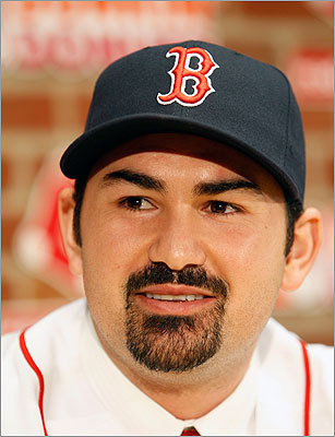 A left-handed power hitter, Gonzalez is expected to benefit from Fenway's right field, which will shrink a bit next season, thanks to an expansion of the bullpens. He's also a hitter who takes the ball the other way, and that means he'll likely make good use of the park's famous Green Monster.