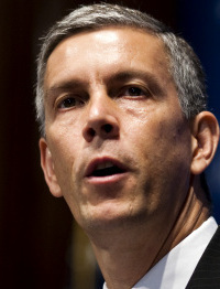 "Arne Duncan called the study a ""massive wake-up call.''"