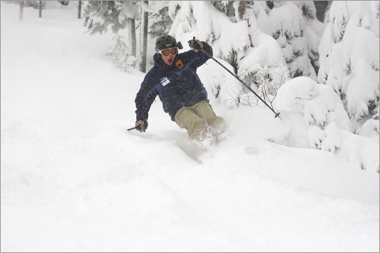 Maine's Sugarloaf has seen at least 14 inches of snow since Sunday.