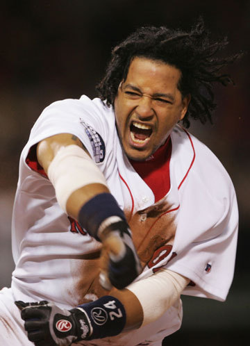 Manny Ramirez Manny was just, well, Manny in the 2004 World Series as he helped the Red Sox eliminate the '1918!' chants and bring home Boston's first championship in 86 years. He won the MVP of the series as the Red Sox swept the Cardinals. Ramirez batted .412 and had a 1.088 OPS. He also had a home run and four RBI.