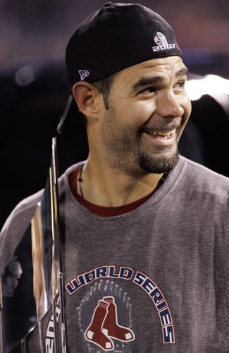 Mike Lowell Mike Lowell was the 2007 World Series MVP after the Red Sox breezed to a sweep of the Colorado Rockies for Boston's second title in four years. Lowell batted .400 and had an OPS of 1.300, along with a home run and four RBI.