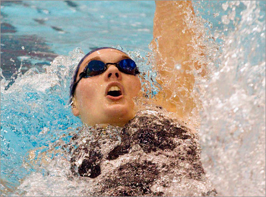 In 2006, an 11-year-old Rachel Moore witnessed New Jersey's Lauren English, the former national high school swimmer of the year, set the school record at Harvard's Blodgett Pool in the 100-yard backstroke. So it was fitting that Moore broke English's record en route to Andover's 11th MIAA Division 1 state swimming and diving championship in 12 years. Read: Andover rules the waves