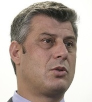 PARTY DISMISSES CLAIMS Kosovo officials denounced as slanderous the allegations against Hashim Thaci, whose party won elections this month.