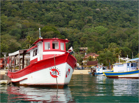 Almost without exception, the sailing craft on Ilha Grande are painted with a joyful and very Brazilian sense of color.
