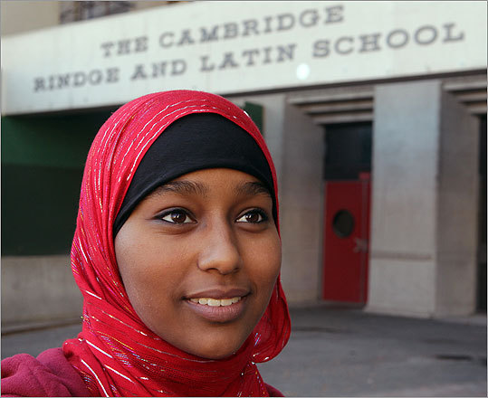 Cambridge schools made headlines when officials decided to close schools for one Muslim holiday each year beginning in the 2011-2012 school year. School officials believed it was the first move of its kind in the state. Dunia Kassay, a senior at Cambridge Rindge and Latin High School, was instrumental in the movement to get a Muslim holiday in the school year calendar.