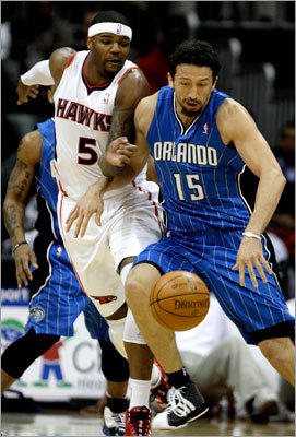 Hedo Turkoglu The Magic re-acquired swingman Hedo Turkoglu in their recent deal -- he of the $53 million contract -- but bad contracts are everywhere in this deal. Lewis's max deal may have been the worst in the league. The Magic traded that for the rest of Arenas's $111 million deal. The numbers are all bad, but the players aren't. Turkoglu is more than serviceable; Paul Pierce has repeatedly said that he gives him as much of a matchup problem as any small forward in the league. Turkoglu can score. He'll need to do that and more for Orlando