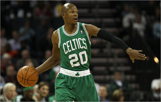 Who guards Ray Allen? Saturday's game should be interesting because it's an early look at how Orlando's pieces fit together against a good team. One big question right now: Who guards Ray Allen? Jason Richardson likely does, but the Magic may be unable to play Arenas and Jameer Nelson at the same time because of that matchup. And what about J.J. Redick? Outside of Howard, he might have been Orlando's most consistent player during last year's playoffs. Now Redick might not have a role.