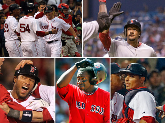 No. 18: The replacement Red Sox In April, not many Red Sox fans knew much about (clockwise) Daniel Nava, Eric Patterson, Darnell McDonald, Bill Hall, and Kevin Cash. But by the end of the season, they were all household names in Red Sox Nation. When the regulars went down with a flurry of injuries, the replacement Red Sox stepped up to the plate and held Boston in contention much longer than anyone had anticipated when the big guns went down.