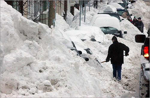 1: February 17-18, 2003 -- 27.5 inches On 7th Street in South Boston, residents shoveled out from more than 2 feet of snow.