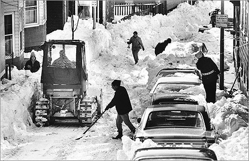 2: February 6-7, 1978 -- 27.1 inches The blizzard of '78 is still remembered in Boston as one of the worst to ever hit the city.