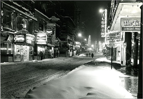7: March 3-5, 1960 -- 19.8 inches A late winter storm in 1960 blanketed Boston's Theatre District.