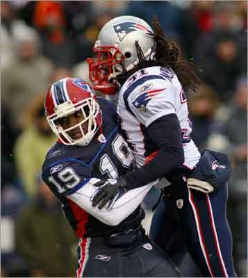 Brandon Meriweather Safety Brandon Meriweather's inclusion as a 2010 AFC Pro Bowl selection caught many people by surprise. Meriweather's three interceptions and his style of play may have earned him the nod. An infamous illegal hit on Todd Heap earlier this season, as well as some bad routes to cover receivers, would have led many to keep him off the team.