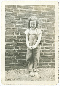 An old photo of Barbara Yeoman as a child living in Cambridge.