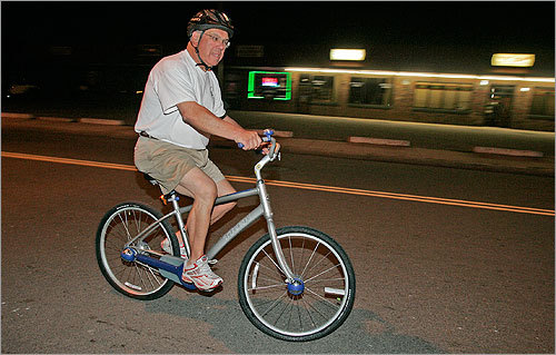 While on a morning bike ride in May 2008, Mayor Menino was struck by a passing car on River Street. He fell off of his bike and scraped his ankle, but did not go to the hospital. Menino told the driver, 'just get going, and don't be late for work.'