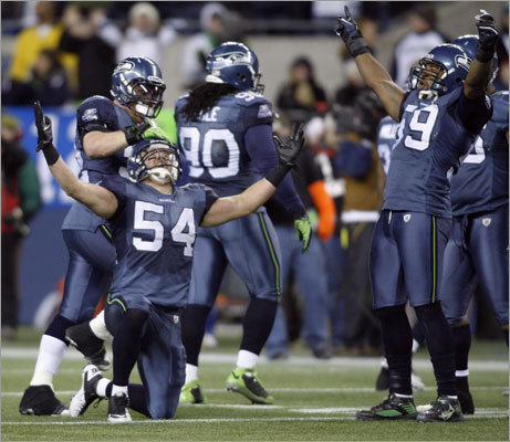The NFL playoffs are upon us and there are story lines galore, from a sub-.500 team (Seahawks, pictured at left) not only getting in but having a home game in the first round to a rematch of last season's AFC title game. Here are the first-round matchups, and the possibilities for the four teams that have first-round byes.