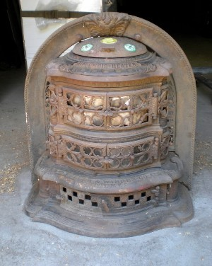 ''We also do a lot of conversions where someone would like to have a beautiful Victorian stove in their kitchen, but they don't want to burn wood and they don't want to burn coal,'' he said. ''They want it to just turn a knob and be electric or gas.'' This photo shows a 1887 Splendid Heater before he restored it.