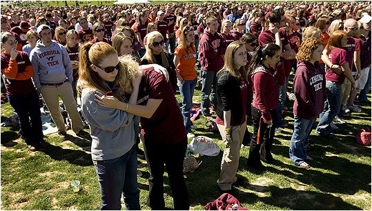 Virginia Tech, April 16, 2007 Virginia Tech student Seung-Hui Cho killed 32 and wounded several before committing suicide in two separate attacks that occurred approximately two hours apart. The incident sparked a national outcry for more stringent gun laws.