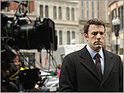 Cambridge-bred actor Ben Affleck is seen during filming of 'The Company Men' in Boston.