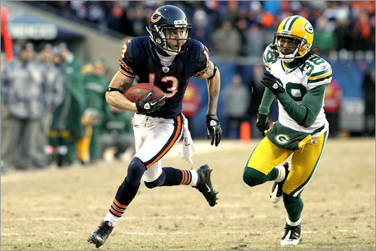 Packers 21, Bears 14 Bears receiver Johnny Knox had a 32-yard reception late in the second half.