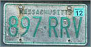 Green license plates in Massachusetts